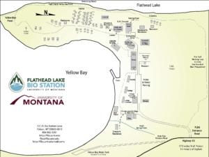 Flathead Lake Bio Station Map